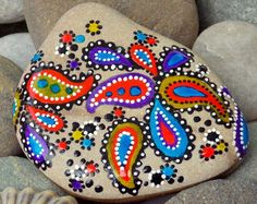 bohemian wildflowers / painted rocks / painted von LoveFromCapeCod