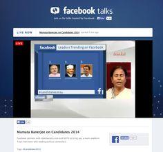 Facebook data slide on Candidates 2014 on Facebook Talks Live