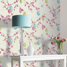 Arthouse Chinese Garden Pink Wallpaper - http://godecorating.co.uk/arthouse-chinese-garden-pink-wallpaper/