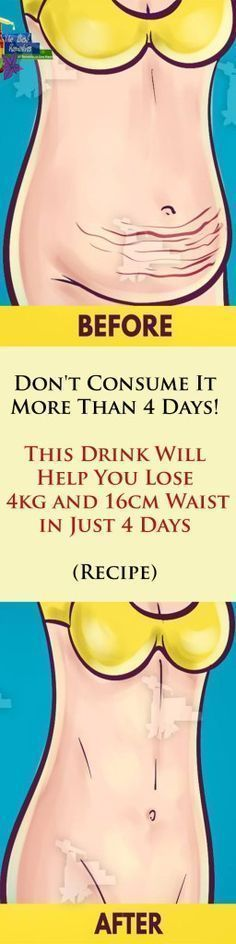 This Mixture Will Help You Lose 4 KG And 16 CM Waist In Just 4 Days