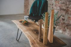 Walnut Coffee Table While we sometimes use lumber salvaged from old buildings we often find ourselves sourcing beautiful walnut slabs from little villages around the country. Trees that have fallen due to storm, age or village ordinance, trees that belong to elderly people that don't have the