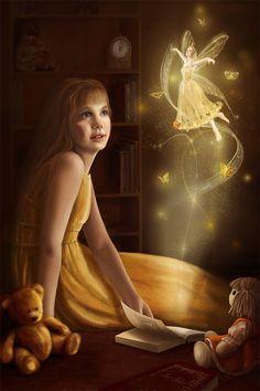 [Fantasy art] Fairy book by arventur at Epilogue Fairy Dust, Fairy Land, Fairy Tales, Magic Fairy, Fantasy World, Fantasy Art, Fantasy Fairies, Fantasy Images, Animé Halloween