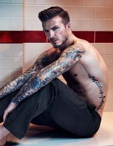 amazing david beckham cool tattoo design