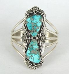 Authentic Native American Navajo Sterling Silver turquoise bracelet