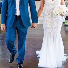 Stepping out in style as Mr. and Mrs. @watterswtoo real bride in Cinzia by @marissajoykaplan. #BeAWattersGirl #brideandgroom #weddingdress #mensfashion #bouquet #groom #bride #bridetobe #futuremrandmrs #mrandmrs #couple #realwedding #Watters #style #brida