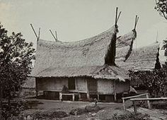 Sundanese people - Traditional Sundanese house with Julang Ngapak roof, Papandak, Garut