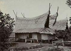 Sundanese people - Traditional Sundanese house with Julang Ngapak roof, Papandak, Garut
