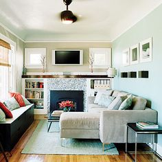 Lots of light, good use of space, less is more.