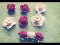 DIY Flores de fieltro,Felt Flowers.mov