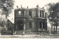 Major Watson house being torn down, Sheldon & Fulton - c. 1928
