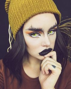 Dark beautiful creature @atleeeey keeps a predatory eye  from her perch in our 'Man Eater' lashes! This owl inspired makeup totally kicks ass!  #blackmagiclashes