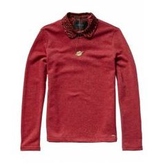Lurex sweat top with detachable inner collar - Sweats - Scotch & Soda Online Shop