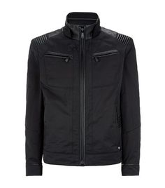 Hugo Boss Mercedes Leather Detail Jacket