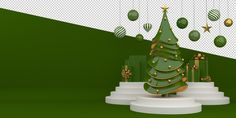 Premium PSD | Merry christmas and happy new year 3d rendering Merry Christmas Text, Elegant Christmas Trees, Large Christmas Tree, Christmas Tree Branches, Christmas Balls Decorations, Ball Decorations, Christmas Poster, Christmas Frames, New Years Decorations
