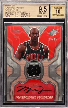 25e2148d1cf14d 2007-08 Michael Jordan UD SPX Flashback Fabrics Patch Auto  25 BGS 9.5 Pop  1. GFU Collectible · NBA Trading Cards and Collectibles · 1986 Fleer  Basketball ...