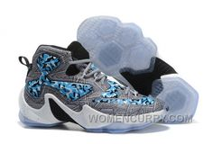 "various colors 43571 5e63f Nike LeBron 13 ""Camo"" Grey Blue White Basketball Shoes Online"
