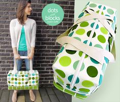 Dots & Blocks Modern Duffle | Sew4Home