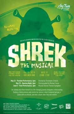 Subplot Studio customizable poster design— Shrek The Musical