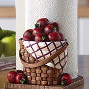 Red Apple Kitchen Paper Towel Holder