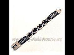 How to make a leather cord bracelet using metal rings - http://www.beads-projects.com - On-line beads shop : http://www.crystaldreams.es
