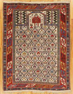 Asia - Azerbaijan/Shirvan, before 1910 Carpet Flooring, Rugs On Carpet, Floor Art, Textiles, Fabric Rug, Prayer Rug, Rug Ideas, Oriental Rugs, Magic Carpet