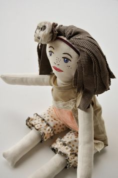 Eco Toys Rag Doll Fabric Doll Cloth French by WiseSewcialTies on Etsy.