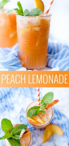 Peach Lemonade Recipe | summer drink recipes | easy lemonade recipe | flavored lemonade recipe || Oh So Delicioso #recipe #drinks #summer #summerdrink #lemonade #peachlemonade #fruittea