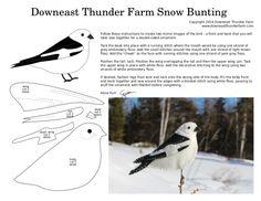 A Simple Snow Bunting   Downeast Thunder Farm