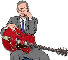 [ American musician ] guitar :chetatkins.  セミアコースティック・ギター/チェット・アトキンス #ギタリスト