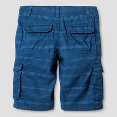 Boys' Cargo Shorts - Cat & Jack Blue Stripe 18