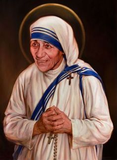 Saint of the Day – September 5 – St Mother Teresa of Calcutta #pinterest #stmotherteresa Missionaries of Charity Father Brian Kolodiejchuk the official postulator said the front of the large cross is made of wood taken from places associated with Mother Teresa's works of mercy: The first home for the dying she established in Calcutta, a home for those with Hansen's disease, an immigrants' boat, a Gypsy shack. But ..............ARTIST CHAS FAGAN