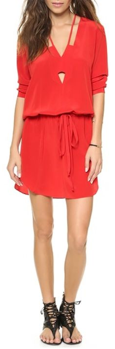 lovely #red silk crepe dress http://rstyle.me/n/kpfxdr9te