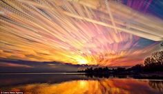 Matt Mollow can use up 1000 different images for one sunset picture - creating an awe-inspiring view of nature-Photographer-uses-time-lapse-technology-capture-dazzling-sunsets-colorful-clouds.
