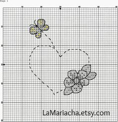 Keeping Things Simple...: Free cross stitch pattern Spring heart with flower...