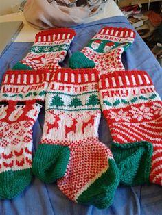 Ravelry: Design and Knit Fabulous Fair Isle Christmas Stockings pattern by Patti Hamilton Knitted Christmas Stocking Patterns, Knitted Christmas Stockings, Crochet Christmas Ornaments, Xmas Stockings, Christmas Knitting, Fair Isle Knitting, Baby Knitting, Knitting Projects, Knitting Patterns