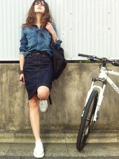 2015春のレディース流行ファッション-デニム