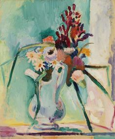 Henri Matisse (French, 1869–1954). Flower Piece, between mid-May 1906 and April 1907. Oil on canvas, 21 7/8 x 18 1/4 in. (55.6 x 46.4 cm). BF205. ©2014 Succession H. Matisse / Artists Rights Society (ARS), New York Image © 2015 The Barnes Foundation