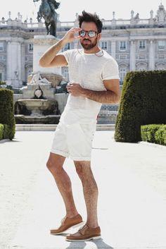 #tshirt #shorts #sunglasses #white #streetstyle #style #menstyle #manstyle #menswear #fashion #mensfashion