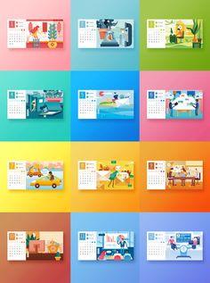 Wall Calendar Design, Calendar Layout, Calendar 2020, Book Design, Layout Design, Table Calendar, Alphabet Cards, Social Media Calendar, Design Reference