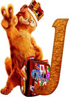 J ~Alfabeto de la película de Garfield 2.