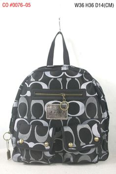 Coach Signature Multi Pocket Backpack Demin