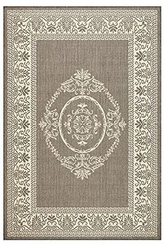 "Antique Medallion Area Outdoor Area Rug, 5'3""x7'6"", GREY CHAMPAGNE Home Decorators Collection http://www.amazon.com/dp/B00UU2TRU2/ref=cm_sw_r_pi_dp_L8Ynwb1A8YC9C"