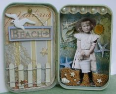 Altoid tin, imagine doing this with one tin for every family vacation as your child grows up..