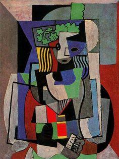 The student, 1919 by Pablo Picasso, Cubist Period. Cubism. portrait