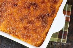Mashed sweet potato brulee