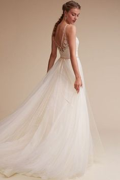 Gorgeous Wedding Ivory/champagne Cassia Gown | BHLDN