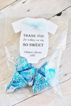 Thank you for making our day so sweet ~ Baby Shower Thank You Gift Tags ~ Nurse ~ Doctor ~ Hospital Thank You ~ One piece ~ Personalized and Unique Baby Onesie Gift Tag ~ www.KendollMade.com