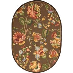 Chelsea Brown 7 ft. 6 in. x 9 ft. 6 in. Oval Area Rug