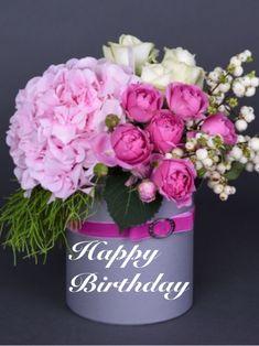 Happy Birthday Flowers Wishes, Happy Birthday Bouquet, Happy Birthday Greetings Friends, Beautiful Birthday Wishes, Happy Birthday Art, Birthday Wishes And Images, Happy Birthday Pictures, Happy Birthday Messages, Bouquet Of Flowers