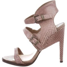 Nicholas Kirkwood Snakeskin Multistrap Sandals cheap pay with visa PveRCm